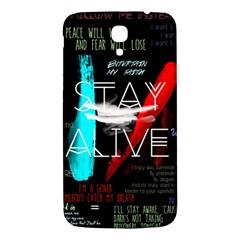 Twenty One Pilots Stay Alive Song Lyrics Quotes Samsung Galaxy Mega I9200 Hardshell Back Case by Onesevenart