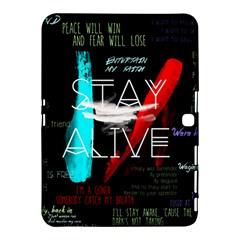 Twenty One Pilots Stay Alive Song Lyrics Quotes Samsung Galaxy Tab 4 (10 1 ) Hardshell Case  by Onesevenart