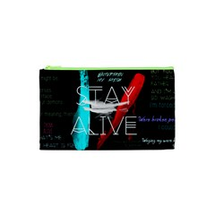 Twenty One Pilots Stay Alive Song Lyrics Quotes Cosmetic Bag (xs) by Onesevenart