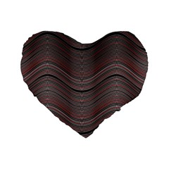 Abstraction Standard 16  Premium Heart Shape Cushions by Valentinaart