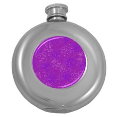 Abstraction Round Hip Flask (5 Oz) by Valentinaart