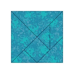 Abstraction Acrylic Tangram Puzzle (4  X 4 ) by Valentinaart