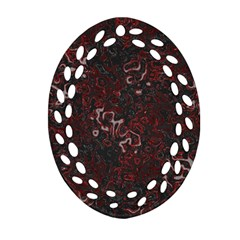 Abstraction Oval Filigree Ornament (two Sides) by Valentinaart