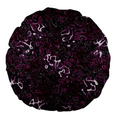 Abstraction Large 18  Premium Flano Round Cushions by Valentinaart