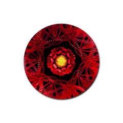 The Sun Is The Center Rubber Round Coaster (4 Pack)  by linceazul