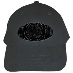 Abstract Black White Geometric Arcs Triangles Wicker Structural Texture Hole Circle Black Cap by Mariart