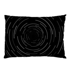Abstract Black White Geometric Arcs Triangles Wicker Structural Texture Hole Circle Pillow Case by Mariart