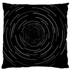 Abstract Black White Geometric Arcs Triangles Wicker Structural Texture Hole Circle Large Cushion Case (two Sides) by Mariart
