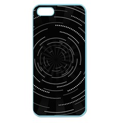 Abstract Black White Geometric Arcs Triangles Wicker Structural Texture Hole Circle Apple Seamless Iphone 5 Case (color)