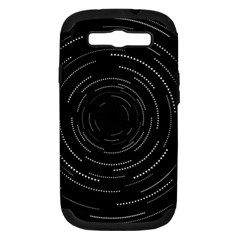 Abstract Black White Geometric Arcs Triangles Wicker Structural Texture Hole Circle Samsung Galaxy S Iii Hardshell Case (pc+silicone) by Mariart