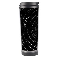 Abstract Black White Geometric Arcs Triangles Wicker Structural Texture Hole Circle Travel Tumbler by Mariart