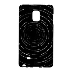 Abstract Black White Geometric Arcs Triangles Wicker Structural Texture Hole Circle Galaxy Note Edge by Mariart