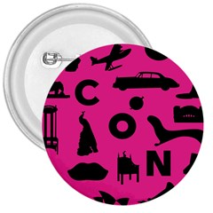 Car Plan Pinkcover Outside 3  Buttons by Mariart