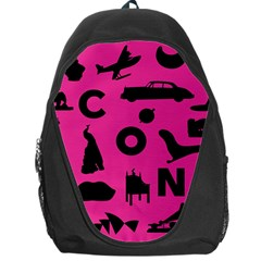 Car Plan Pinkcover Outside Backpack Bag by Mariart