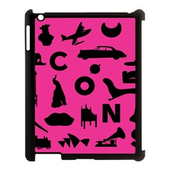 Car Plan Pinkcover Outside Apple Ipad 3/4 Case (black) by Mariart