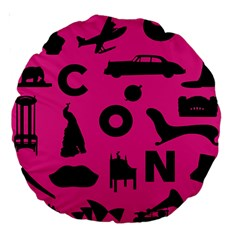 Car Plan Pinkcover Outside Large 18  Premium Round Cushions by Mariart