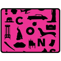 Car Plan Pinkcover Outside Double Sided Fleece Blanket (large)  by Mariart