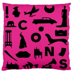Car Plan Pinkcover Outside Standard Flano Cushion Case (two Sides) by Mariart
