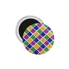 African Illutrations Plaid Color Rainbow Blue Green Yellow Purple White Line Chevron Wave Polkadot 1 75  Magnets by Mariart