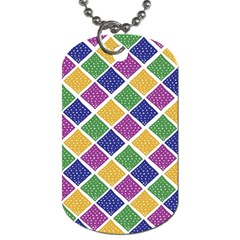 African Illutrations Plaid Color Rainbow Blue Green Yellow Purple White Line Chevron Wave Polkadot Dog Tag (one Side) by Mariart