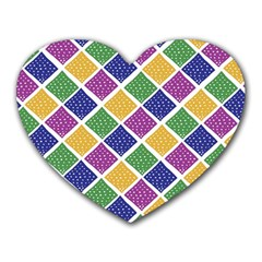African Illutrations Plaid Color Rainbow Blue Green Yellow Purple White Line Chevron Wave Polkadot Heart Mousepads by Mariart