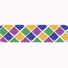 African Illutrations Plaid Color Rainbow Blue Green Yellow Purple White Line Chevron Wave Polkadot Large Bar Mats by Mariart
