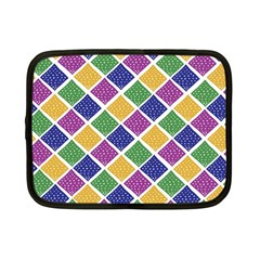 African Illutrations Plaid Color Rainbow Blue Green Yellow Purple White Line Chevron Wave Polkadot Netbook Case (small)  by Mariart