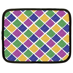 African Illutrations Plaid Color Rainbow Blue Green Yellow Purple White Line Chevron Wave Polkadot Netbook Case (xl)  by Mariart
