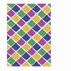 African Illutrations Plaid Color Rainbow Blue Green Yellow Purple White Line Chevron Wave Polkadot Large Garden Flag (two Sides) by Mariart