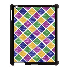 African Illutrations Plaid Color Rainbow Blue Green Yellow Purple White Line Chevron Wave Polkadot Apple Ipad 3/4 Case (black) by Mariart