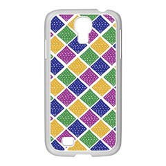 African Illutrations Plaid Color Rainbow Blue Green Yellow Purple White Line Chevron Wave Polkadot Samsung Galaxy S4 I9500/ I9505 Case (white) by Mariart