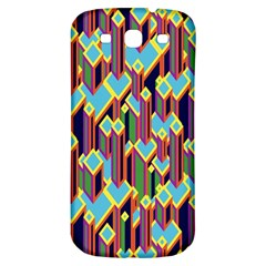 Building City Plaid Chevron Wave Blue Green Samsung Galaxy S3 S Iii Classic Hardshell Back Case by Mariart