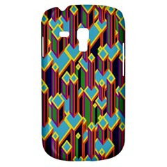 Building City Plaid Chevron Wave Blue Green Galaxy S3 Mini by Mariart
