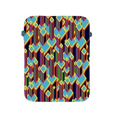 Building City Plaid Chevron Wave Blue Green Apple Ipad 2/3/4 Protective Soft Cases by Mariart
