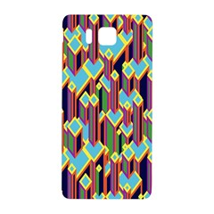 Building City Plaid Chevron Wave Blue Green Samsung Galaxy Alpha Hardshell Back Case by Mariart