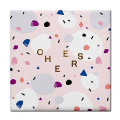 Cheers Polkadot Circle Color Rainbow Tile Coasters by Mariart