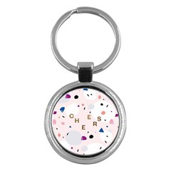 Cheers Polkadot Circle Color Rainbow Key Chains (round)  by Mariart
