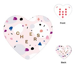 Cheers Polkadot Circle Color Rainbow Playing Cards (heart)  by Mariart