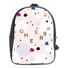Cheers Polkadot Circle Color Rainbow School Bags(large)  by Mariart