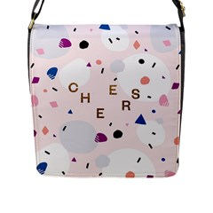 Cheers Polkadot Circle Color Rainbow Flap Messenger Bag (L)