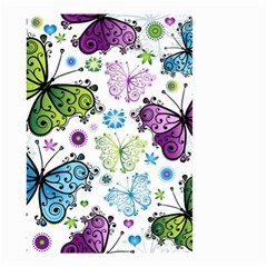 Butterfly Animals Fly Purple Green Blue Polkadot Flower Floral Star Small Garden Flag (two Sides) by Mariart