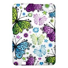 Butterfly Animals Fly Purple Green Blue Polkadot Flower Floral Star Kindle Fire Hd 8 9  by Mariart
