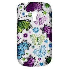 Butterfly Animals Fly Purple Green Blue Polkadot Flower Floral Star Galaxy S3 Mini