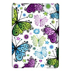 Butterfly Animals Fly Purple Green Blue Polkadot Flower Floral Star Ipad Air Hardshell Cases by Mariart