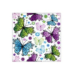 Butterfly Animals Fly Purple Green Blue Polkadot Flower Floral Star Satin Bandana Scarf by Mariart