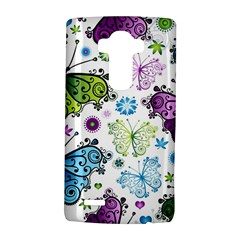 Butterfly Animals Fly Purple Green Blue Polkadot Flower Floral Star Lg G4 Hardshell Case by Mariart