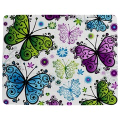 Butterfly Animals Fly Purple Green Blue Polkadot Flower Floral Star Jigsaw Puzzle Photo Stand (rectangular) by Mariart