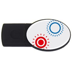 Color Light Effect Control Mode Circle Red Blue Usb Flash Drive Oval (2 Gb) by Mariart