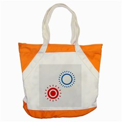 Color Light Effect Control Mode Circle Red Blue Accent Tote Bag by Mariart