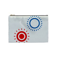 Color Light Effect Control Mode Circle Red Blue Cosmetic Bag (medium)  by Mariart